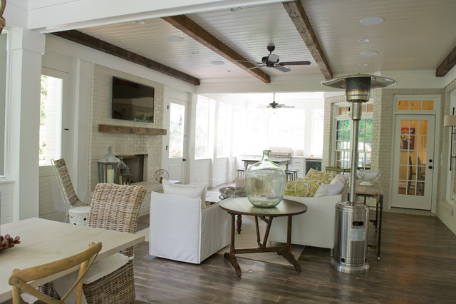 Screen Porch beach-style-living-room