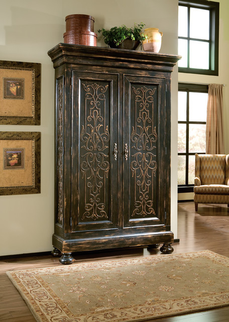 Scrolling Gate Armoire - Mediterranean - Living Room - Dallas - by ...
