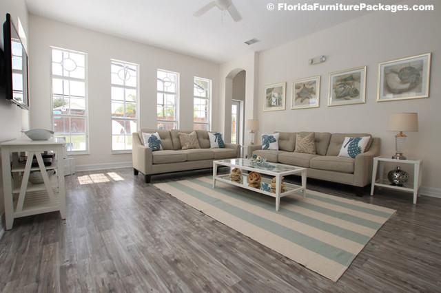 Sea Pearl Contemporary Living Room Orlando By Florida