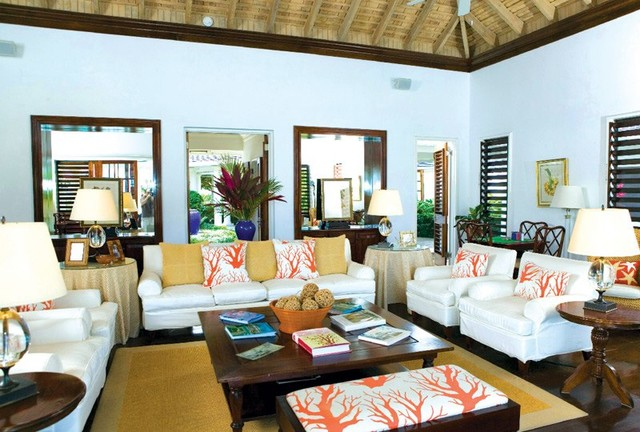 sea salt jamaica tropical living room