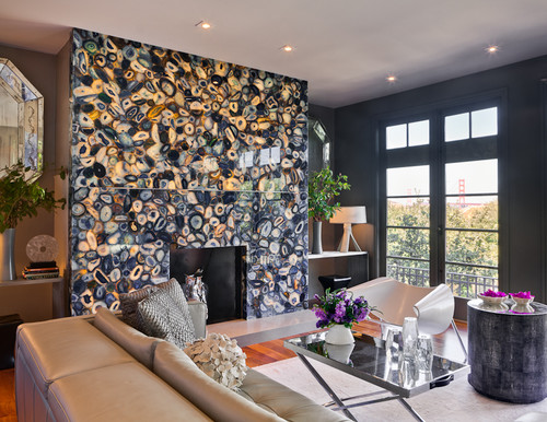 eclectic living room Natural Works of Art: Agate in the Home