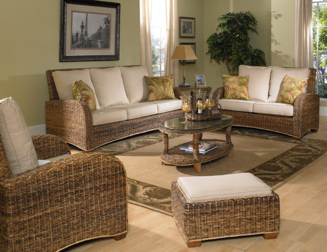 Seagrass Furniture St Kitts Tropical Living Room New York By Wicker Paradise