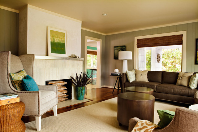 Seahound Ranch Beach Style Living Room Portland By