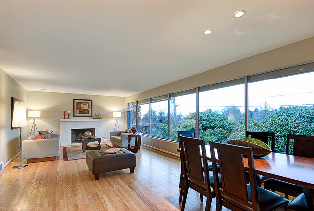 Seattle Mcm Staged Home Contemporary Living Room Seattle By Seattle Staged To Sell And