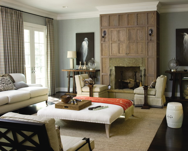 Seawatch Idea House Living Room Fireplace - Eclectic ...