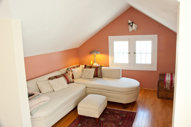 Second Floor Attic Space Becomes Dream Master Bedroom Contemporary Living Room Minneapolis