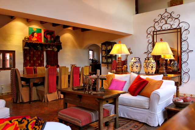Second home in mexico eclectic living room by for Mexican living room decor