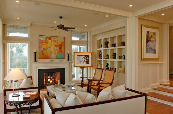 Inspiration for a contemporary living room remodel in Charleston
