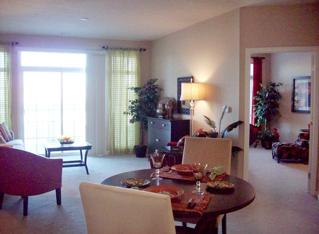 Senior Living Model Apartment Independent Transitional Living Room Omaha By Mary