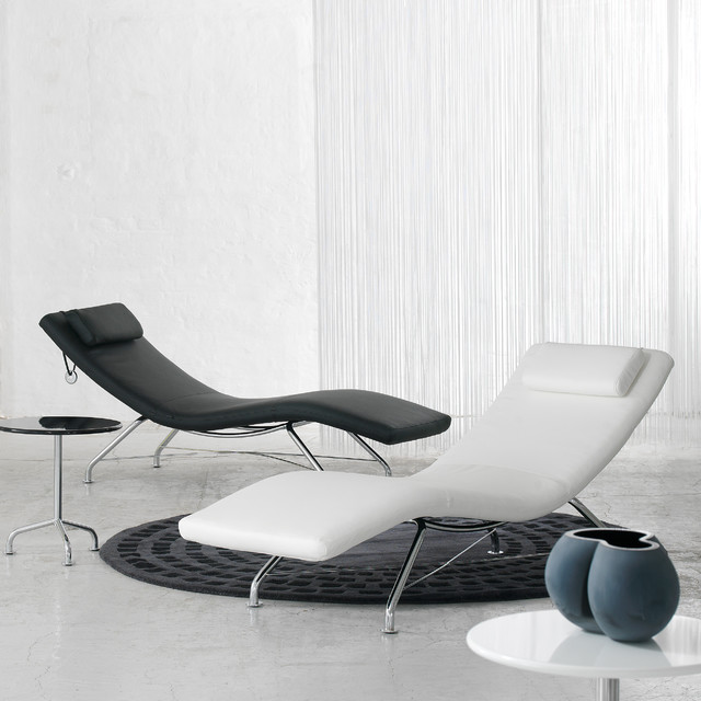 Sense Lounge Chair Black And White Modern Living Room