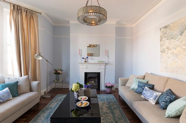 Serene elegant edwardian mansion flat chiswick for Serene living room ideas