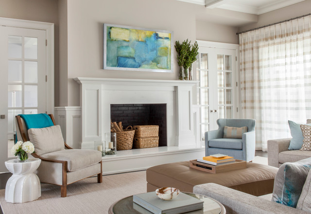 Serene country haven transitional living room new for Serene living room ideas