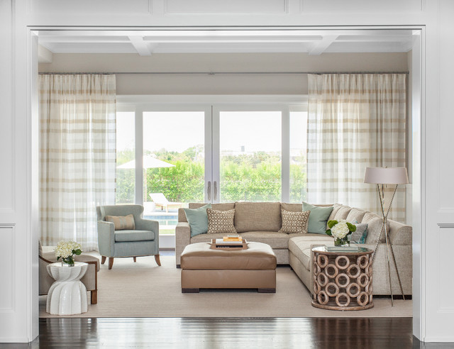 Serene Country Haven Transitional Living Room new
