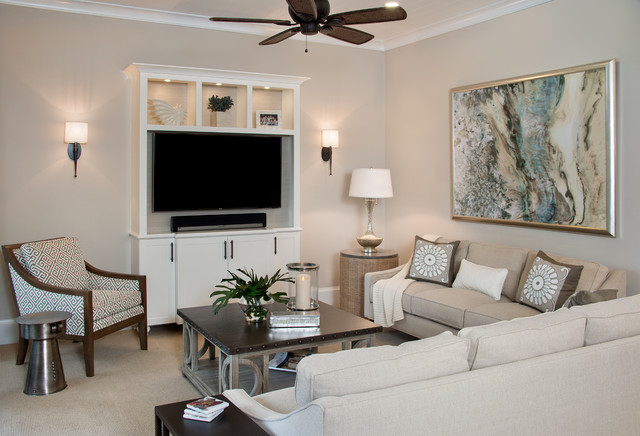 Serene Spaces Beach Style Living Room miami by