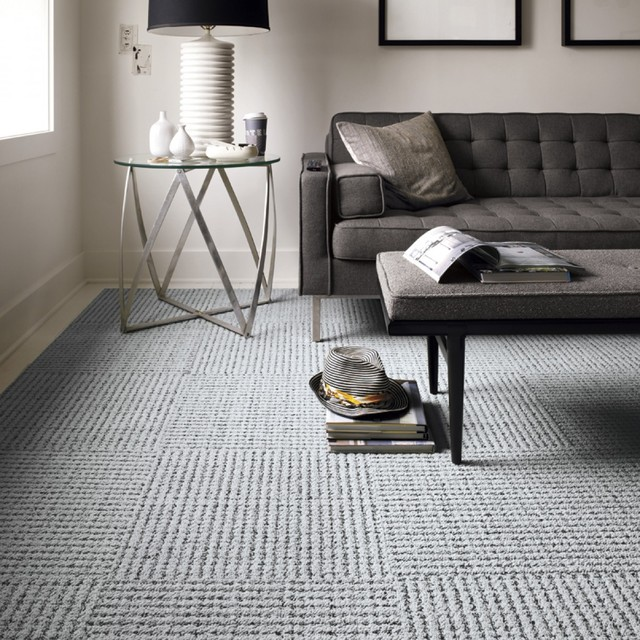 carpet tiles living room settle modern living room chicago by flor 13237
