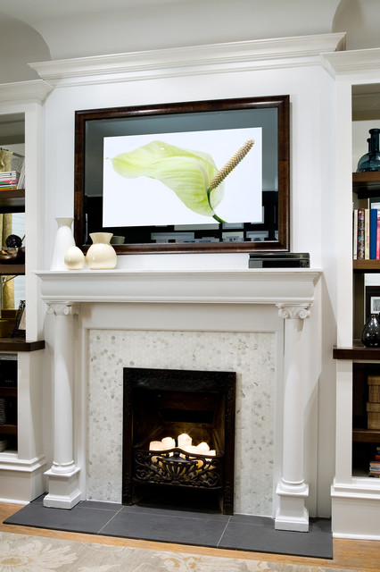 The art of balance living room by seura - Candice olson fireplaces ...