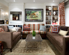 Fabulously Functional Living Room (Design By Candice Olson) contemporary living room