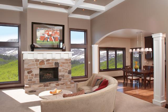 Mountainside Retreat living-room