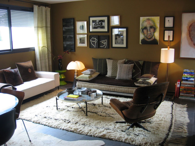 shabby boho-chic eclectic-living-room