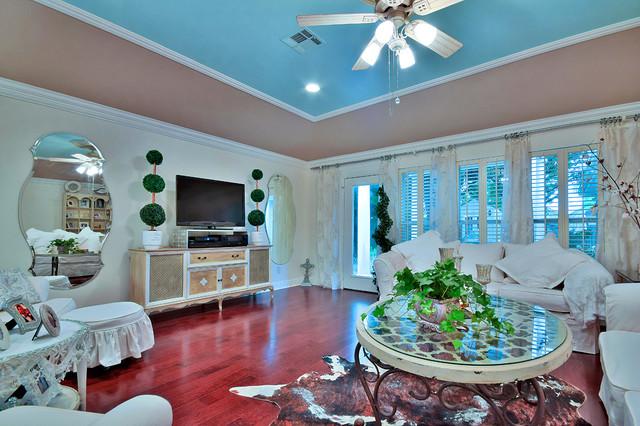 shabby chic family room - shabby-chic style - family room - new
