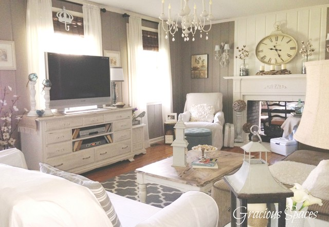 Shabby living room shabby chic style living room nashville by gracious spaces - Chic living room ...