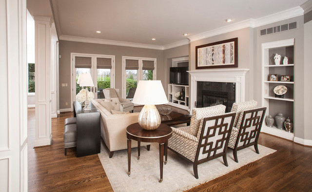 Shades Of Gray Transitional Living Room By Connie