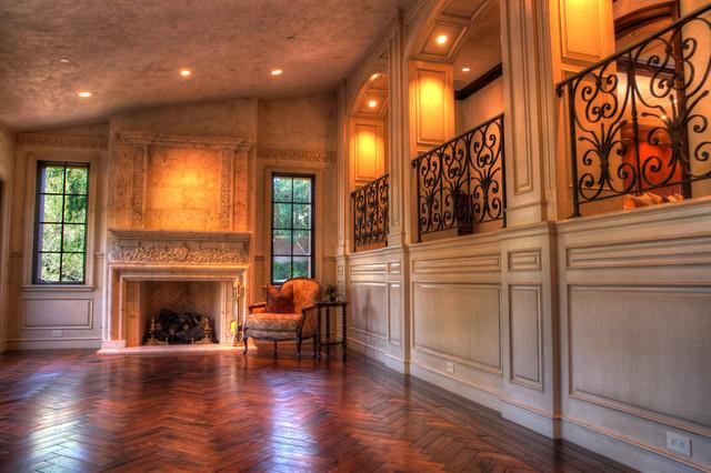 Shady Canyon Residence mediterranean-living-room
