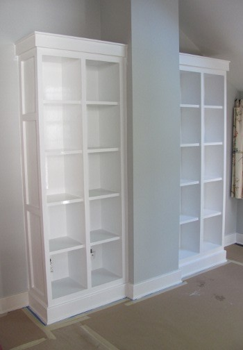 Shaker Bookcases contemporary-living-room