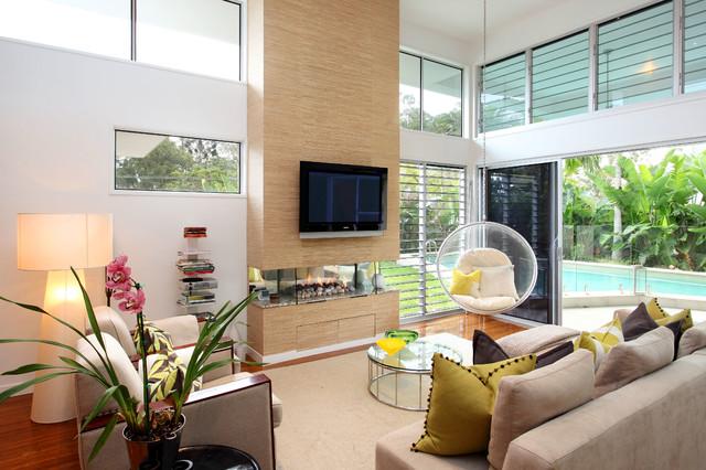 Shane calvino interiors contemporary living room for Interior designers brisbane