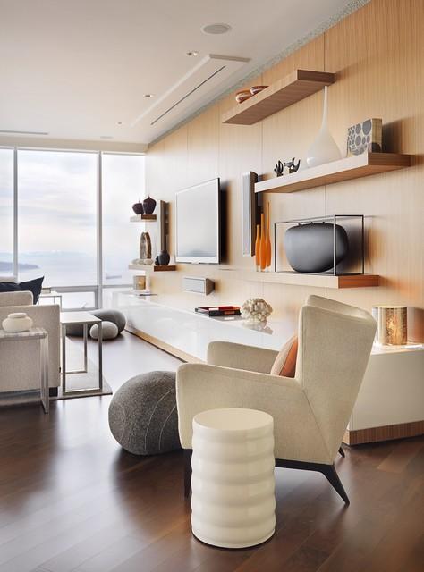 Shangrila Vancouver Contemporary Living Room