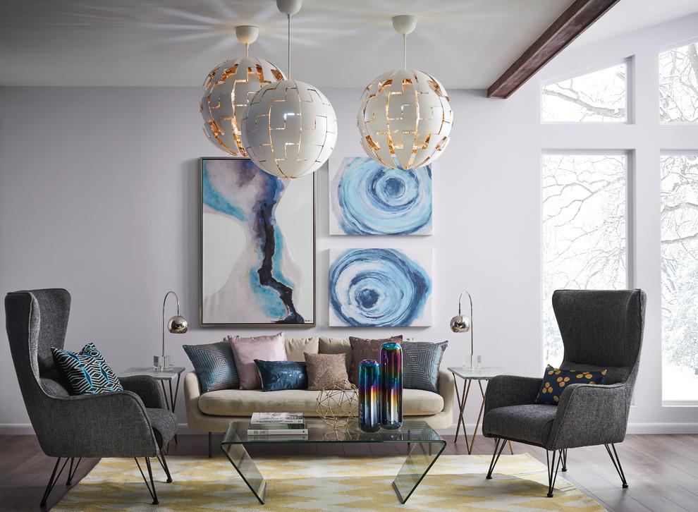 Living room - modern living room idea in Cleveland