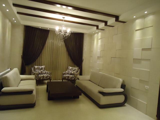 sharrif villa by Lamasat Architects and Interior Designers mediterranean-living-room