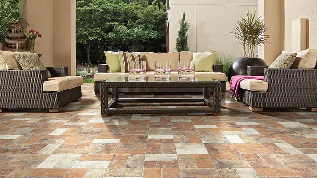 rustic living room tile floor designs | Shaw Floors San Francisco Pacific Height Porcelain Tile ...