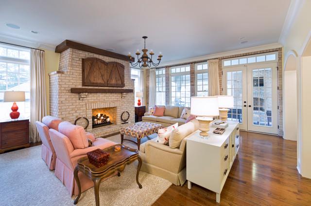 Shea custom homes traditional living room charlotte for Shea custom home plans