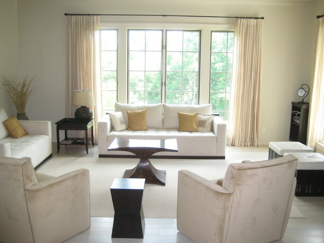 Sheers contemporary-living-room