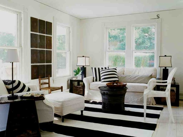 Inspiration For A Shabby Chic Style Living Room Remodel In New York With  White Walls Part 69