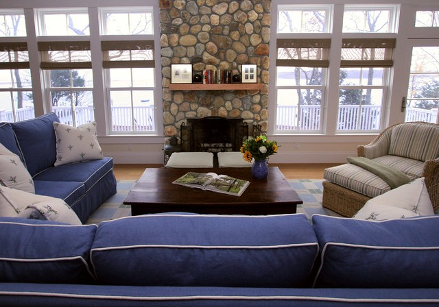 Shelter Island - Traditional - Living Room - New York - by Jana Happel Interior Design