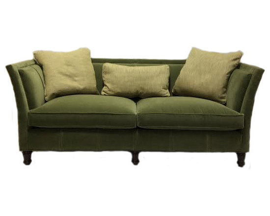 Sherrill Standard Pleated Sofa - Add some pizzazz to your living room with this charming sofa from Sherrill. It's clean lines and vibrant color will definitely make a statement for your home. This one of a kind sofa has a pleated back and is guaranteed to catch family and friends' eyes.