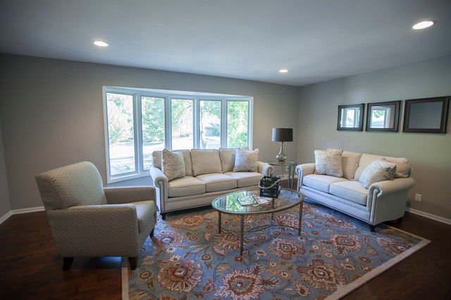 Sherwin williams mindful gray paint antique brown wood - Gray paint living room ...