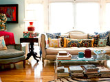 asian living room My Houzz: Resisting Restraint in a Tampa Townhouse (16 photos)