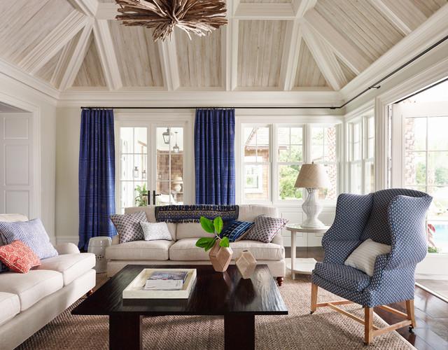 Shingle Style Beach Style Living Room Jacksonville By Andrew Howard I