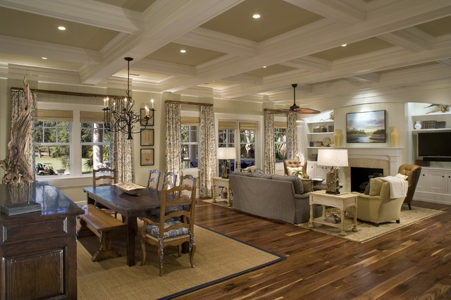 Coffered Ceiling Living Room Ideas Photos Houzz - Coffered ceiling ideas