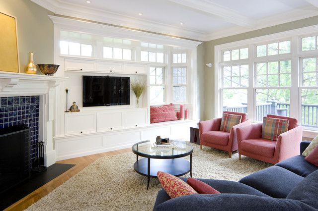 Shingle Style Living Room contemporary-living-room