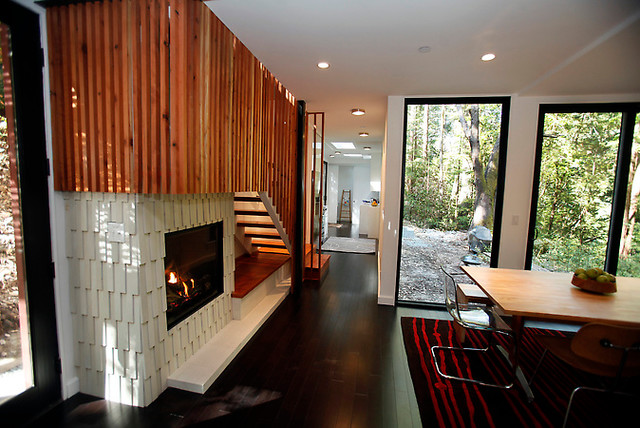 Shipping Container Home contemporary-living-room