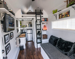 Shoebox Tiny Home eclectic-living-room