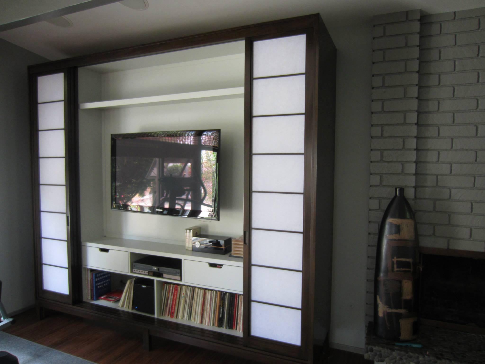 Shoji Screen Entertainment Center