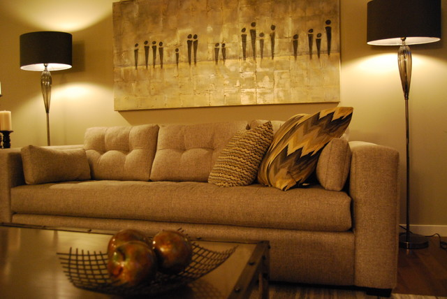Morrison Homes Show Home Staging contemporary-living-room