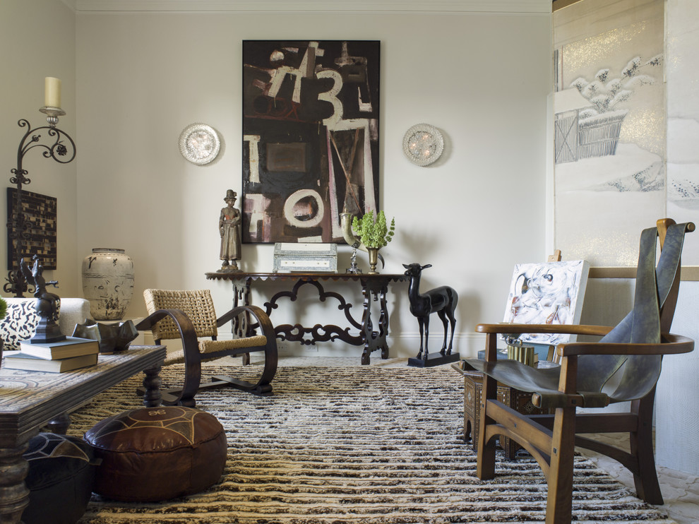 Large eclectic living room photo in San Francisco