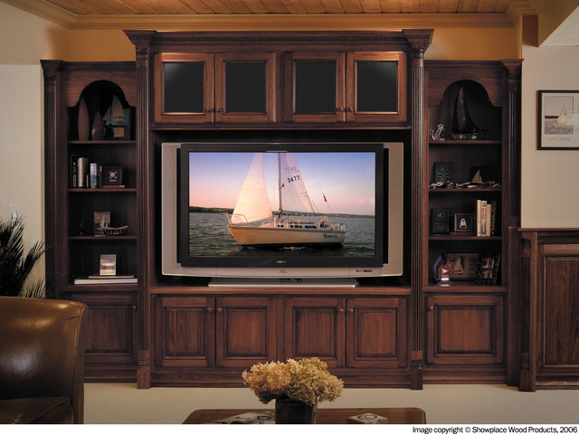 Living Room Cabinet : Showplace Cabinets - Family Room - Traditional - Living ...