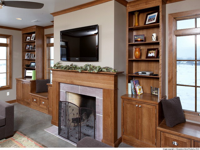 Awesome Showplace Cabinets   Fireplace Surround Traditional Living Room